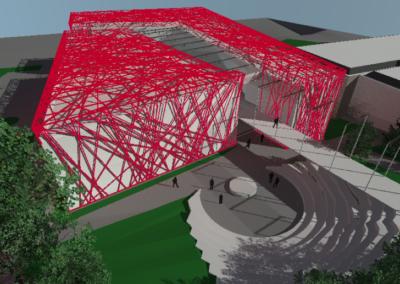 Plan 3D, concours pour la rénovation et l'agrandissement du Complexe Scolaire & Culturel de Beausobre. Architecture art et énergie.