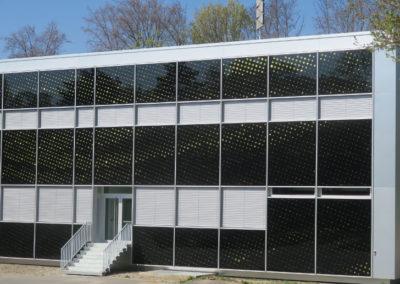 """Centre sportif de la Vallée de la Jeunesse, CSVJ, assainissement énergétique d'un bâtiment construit selon le système """"CROCS"""" à Lausanne."""