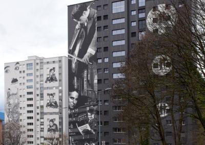 Assainissement énergétique de 2 tours de 70 logements chacune à l'avenue de Gilamont à Vevey. Architecture, art et énergie.