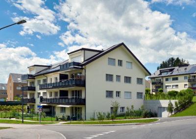 Grand Chemin 53-55 Epalinges, assainissement et transformation de deux immeubles de 10 appartements chacun,à Epalinges par Chiché Architectes