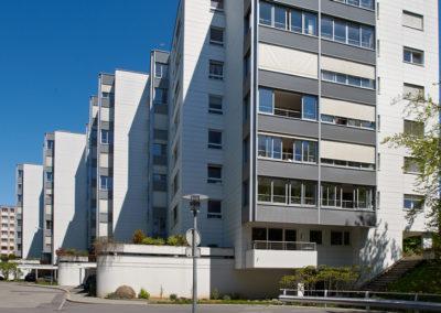 Assainissement énergétique d'un bâtiment de 137 logements au chemin des Libellules à Lausanne. Architecture, Art et Energie. Voir plus...