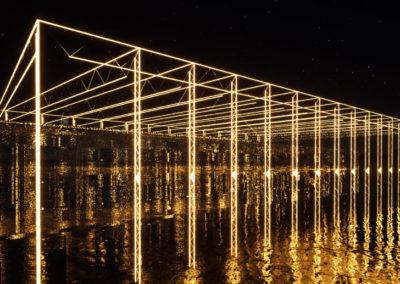 Plan 3D, Concours pour la rénovation du Musée d'Histoire Naturelle de Fribourg. Le projet imaginé mêle architecture, art et énergie.